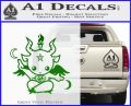 Baby Baphomet Decal Sticker Green Vinyl Logo 120x97