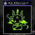 Baby Baphomet Decal Sticker Lime Green Vinyl 120x120