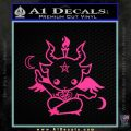 Baby Baphomet Decal Sticker Pink Hot Vinyl 120x120
