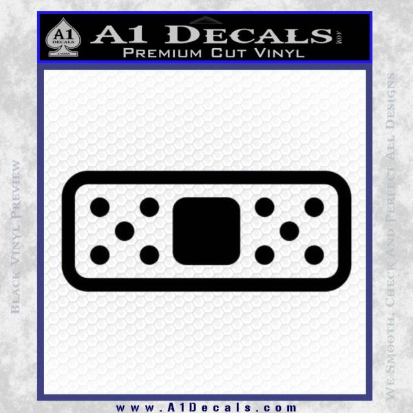 Band Aide Decal Sticker Single Black Vinyl