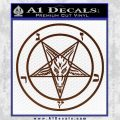 Baphomet Pentagram Decal Sticker BROWN Vinyl 120x120
