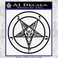 Baphomet Pentagram Decal Sticker Black Vinyl 120x120