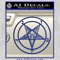 Baphomet Pentagram Decal Sticker Blue Vinyl 120x120