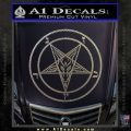 Baphomet Pentagram Decal Sticker Carbon FIber Chrome Vinyl 120x120