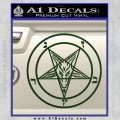 Baphomet Pentagram Decal Sticker Dark Green Vinyl 120x120