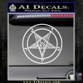 Baphomet Pentagram Decal Sticker Gloss White Vinyl 120x120