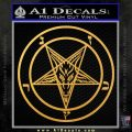 Baphomet Pentagram Decal Sticker Gold Vinyl 120x120