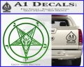 Baphomet Pentagram Decal Sticker Green Vinyl Logo 120x97