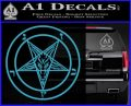 Baphomet Pentagram Decal Sticker Light Blue Vinyl 120x97