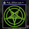 Baphomet Pentagram Decal Sticker Lime Green Vinyl 120x120
