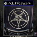 Baphomet Pentagram Decal Sticker Metallic Silver Emblem 120x120
