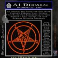 Baphomet Pentagram Decal Sticker Orange Emblem 120x120