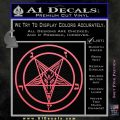 Baphomet Pentagram Decal Sticker Pink Emblem 120x120