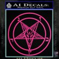 Baphomet Pentagram Decal Sticker Pink Hot Vinyl 120x120