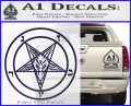 Baphomet Pentagram Decal Sticker PurpleEmblem Logo 120x97