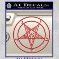 Baphomet Pentagram Decal Sticker Red 120x120