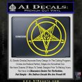 Baphomet Pentagram Decal Sticker Yellow Laptop 120x120