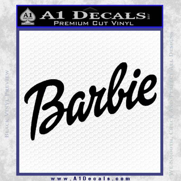 Barbie decal sticker black vinyl 120x120