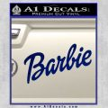 Barbie Decal Sticker Blue Vinyl 120x120