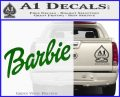 Barbie Decal Sticker Green Vinyl Logo 120x97