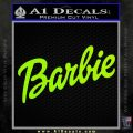 Barbie Decal Sticker Lime Green Vinyl 120x120