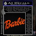 Barbie Decal Sticker Orange Emblem 120x120