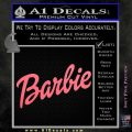 Barbie Decal Sticker Pink Emblem 120x120
