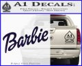 Barbie Decal Sticker PurpleEmblem Logo 120x97