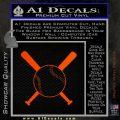 Baseball Bats And Ball Decal Sticker Orange Emblem 120x120