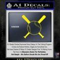 Baseball Bats And Ball Decal Sticker Yellow Laptop 120x120