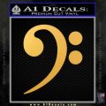 Bass Clef Decal Sticker Gold Vinyl 120x120