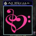 Bass Clef Heart Decal Sticker Alt Pink Hot Vinyl 120x120