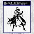Bat Girl Full Decal Sticker Black Vinyl 120x120