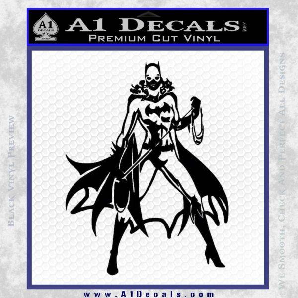 Bat Girl Full Decal Sticker Black Vinyl