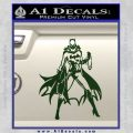 Bat Girl Full Decal Sticker Dark Green Vinyl 120x120