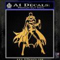 Bat Girl Full Decal Sticker Gold Vinyl 120x120