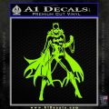 Bat Girl Full Decal Sticker Lime Green Vinyl 120x120