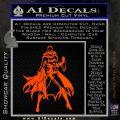 Bat Girl Full Decal Sticker Orange Emblem 120x120