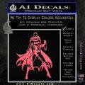 Bat Girl Full Decal Sticker Pink Emblem 120x120