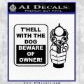 Beware Of Owner Decal Sticker Gun Black Vinyl 120x120