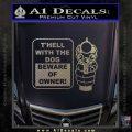 Beware Of Owner Decal Sticker Gun Carbon FIber Chrome Vinyl 120x120