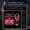 Beware Of Owner Decal Sticker Gun Pink Emblem 120x120