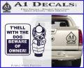 Beware Of Owner Decal Sticker Gun PurpleEmblem Logo 120x97