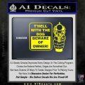 Beware Of Owner Decal Sticker Gun Yellow Laptop 120x120