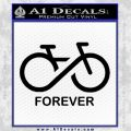Biking Infinity Forever Symbol Decal Sticker Black Vinyl 120x120