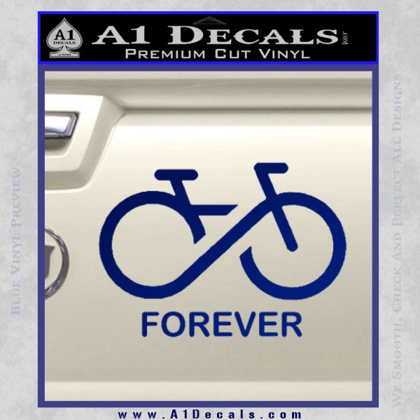 Biking Infinity Forever Symbol Decal Sticker A1 Decals