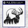 Buck Deer Decal Sticker Black Vinyl 120x120
