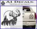 Buck Deer Decal Sticker Carbon FIber Black Vinyl 120x97