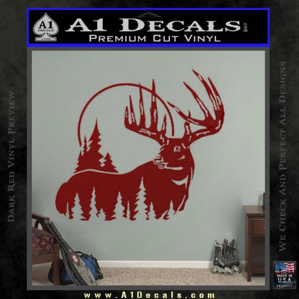 Buck deer decal sticker drd vinyl 120x120