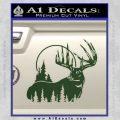 Buck Deer Decal Sticker Dark Green Vinyl 120x120